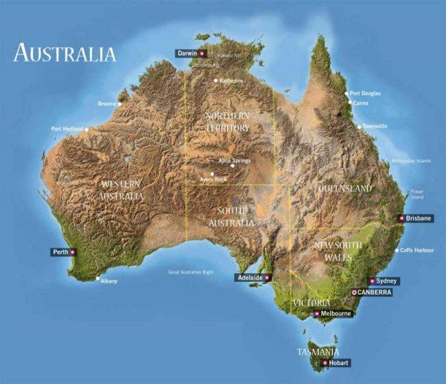 Australia Si A Depăsit Coordonatele De Pe Hărţile Actuale Timpul