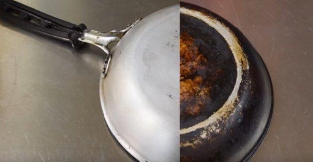 cum să elimini grăsimea arsă din tigaie