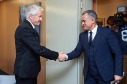 The president of DPM, Vlad Plahotniuc, currently on a working visit to Strasbourg met with Thorbjørn Jagland, the Secretary General of the Council of Europe
