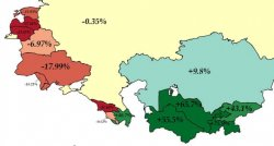 Population Change in the Former Soviet Republics Between 1989 & 2018
