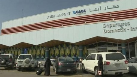 LAST TIME /// Saudi Arabia airport is struck by the winged rocket from the Yemeni rebels. 26 people have been injured