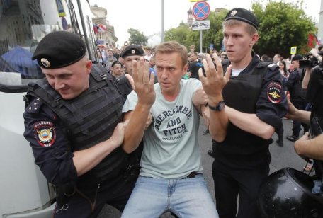 About 100 demonstrators, including journalists, were detained in Moscow