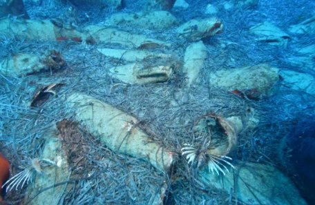 The shipwreck of the Roman Empire, discovered in Europe, near the popular tourist center