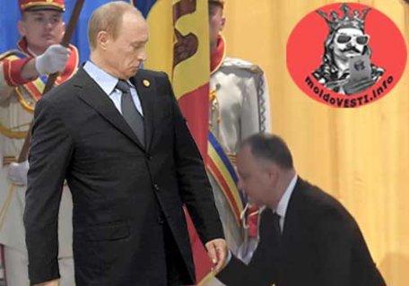 """RUȘINOS / Dodon cere SUA să recunoască """"neutralitatea permanentă"""" dar tace ca un cățeluș în fața lui Putin și nu zice nimic de armata rusă"""