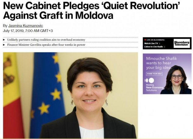 Bloomberg.com - New Cabinet Pledges 'Quiet Revolution' Against Graft in Moldova