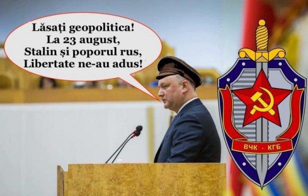 """Răspunsul lui Igor Dodon pentru Maia Sandu: """"La 23 august 1944 Stalin şi poporul rus libertate ne-au adus!"""""""