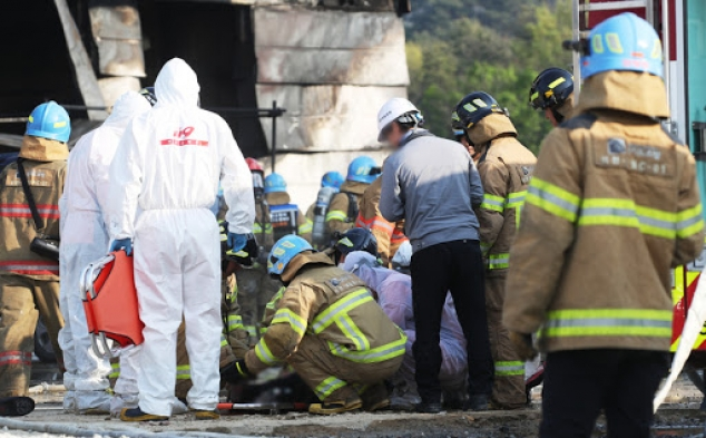 South Korea fire: Dozens killed in warehouse blaze in Icheon